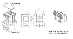 Coil bobbin EI 54 LAM. 45x54