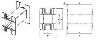 Coil bobbin UI 210 Lam. 350x350