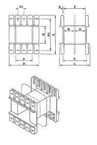 Coil bobbin EI 48 Lam. 40x48