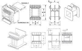 Coil bobbin EI 150 Lam. 125x150