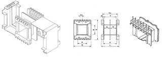 Coil bobbin EI 60 Lam. 50x60