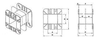 Coil bobbin EI 180 Lam. 150x180