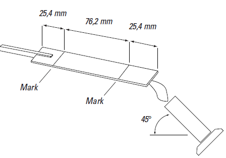 Testing for materials with wall thicknesses of up to 3mm according to UL94 HB